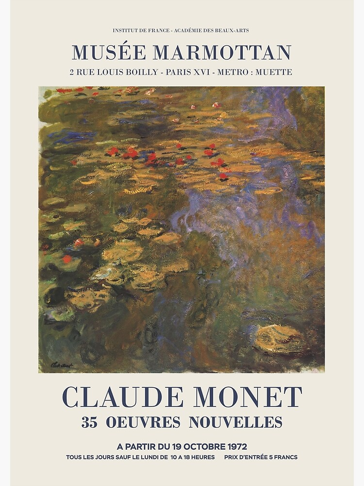 """Claude Monet - Exhibition poster advertising an art exhibition """"35 Oeuvres Nouvelles"""", 1975 by GOST2046"""