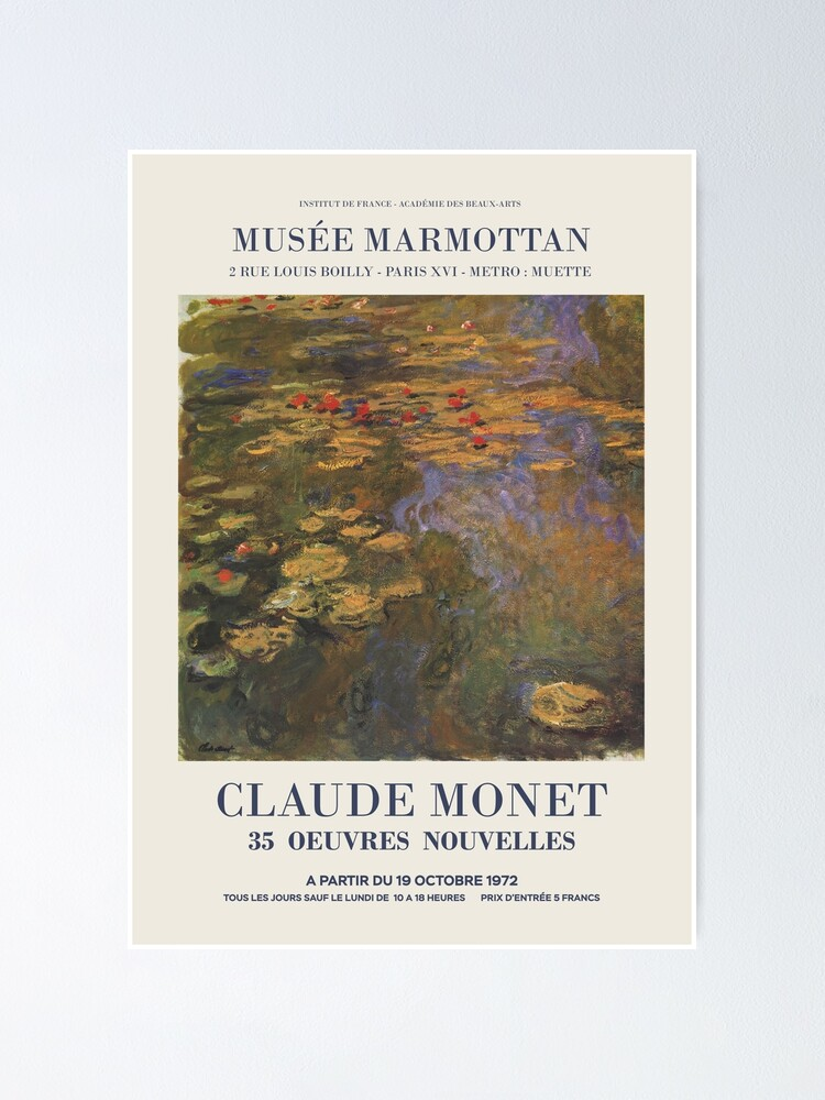 """Alternate view of Claude Monet - Exhibition poster advertising an art exhibition """"35 Oeuvres Nouvelles"""", 1975 Poster"""