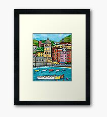 Colours of Vernazza, Cinque Terre Framed Print