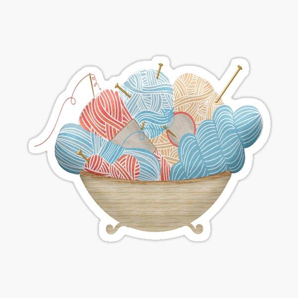 Knitting bowl Sticker