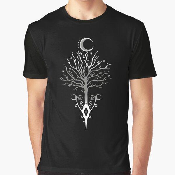 Okkulter Mondbaum Pagan Wicca Mond  Grafik T-Shirt