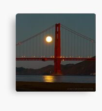 Full Moon and the Golden Gate Bridge Canvas Print
