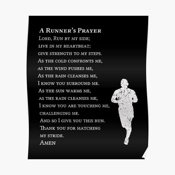 A Runners Prayer Poster