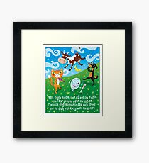 Hey Diddle Diddle - nursery rhymes Framed Print