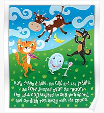 Hey Diddle Diddle - nursery rhymes Poster