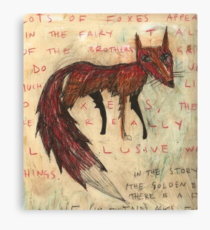a fox Canvas Print