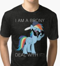 Rainbow Dash Brony Tri-blend T-Shirt