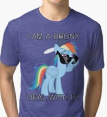 Rainbow Dash Brony Tri-blend T-Shirt