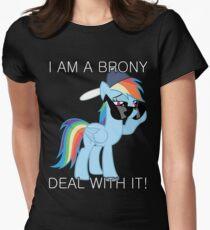 Rainbow Dash Brony Women's Fitted T-Shirt