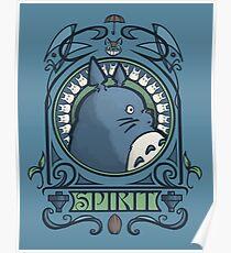 Forest Spirit Nouveau Poster