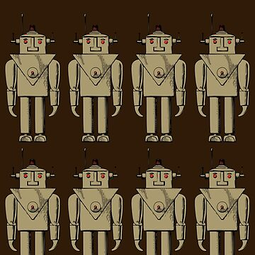Vintage Robot Army by Chillee Wilson by ChilleeWilson
