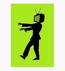 Zombie TV Guy by Chillee Wilson Photographic Print