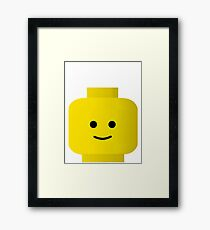 Smiley Minifig Head by Customize My Minifig Framed Print