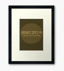 Dune Arrakis Spice Co. Framed Print