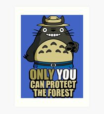 Protect The Forest Art Print