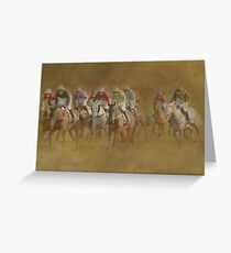 They're Off!!! Greeting Card