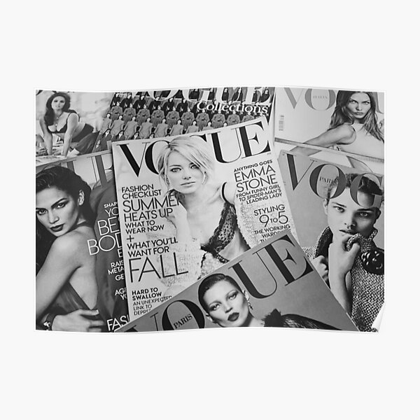 Black And White Vogue  Poster