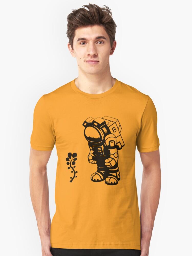 Starlit Astronaut in Black Unisex T-Shirt Front