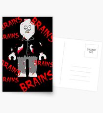 A LOT OF BRAINS - ZOMBIE MINIFIG Postcards