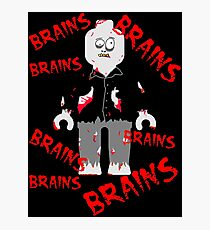 A LOT OF BRAINS - ZOMBIE MINIFIG Photographic Print