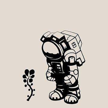 Starlit Astronaut in Black by Tikipod