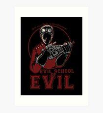 Dr. Horrible's Evil School of Evil Art Print