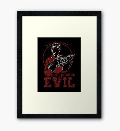 Dr. Horrible's Evil School of Evil Framed Print