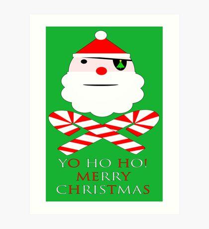 santa jolly roger yo ho ho Art Print