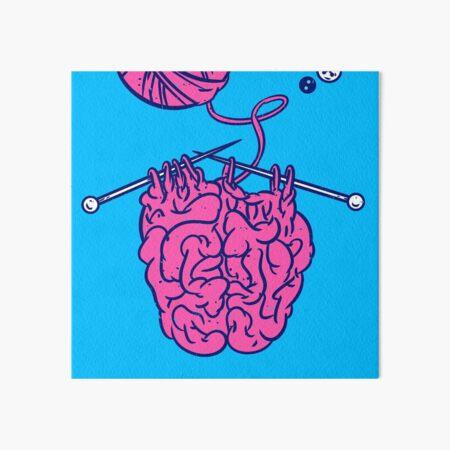 Knitting a brain Art Board Print
