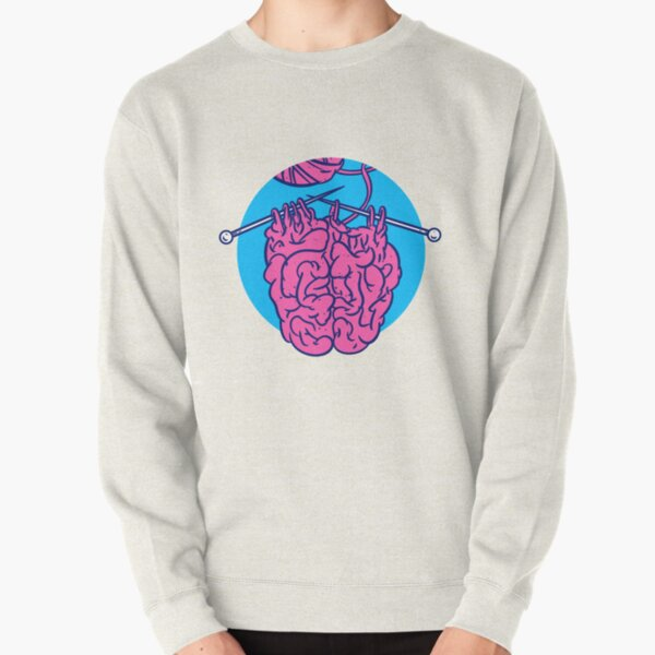 Knitting a brain Pullover Sweatshirt