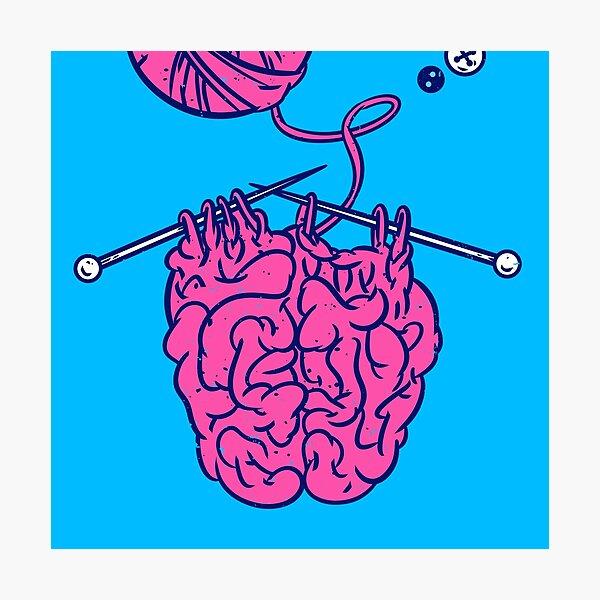 Knitting a brain Photographic Print