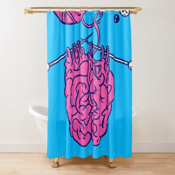 Knitting a brain Shower Curtain