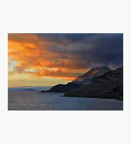 Sunset on the Chilean Fiords Photographic Print