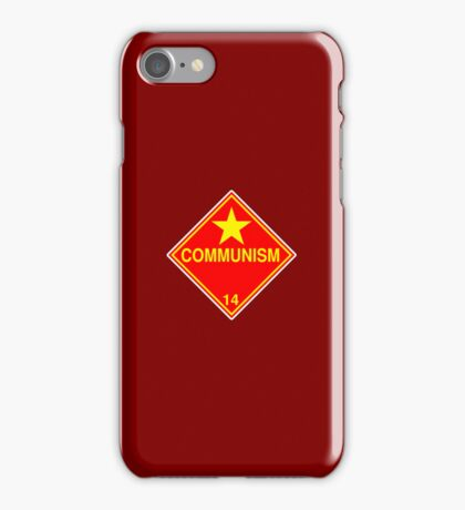 Communism: Hazardous! iPhone Case/Skin