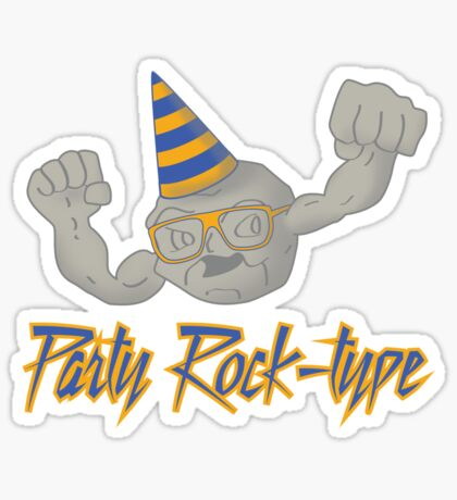 Party Rock-type Sticker
