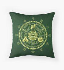 Zelda Triforce Art Logo Throw Pillow