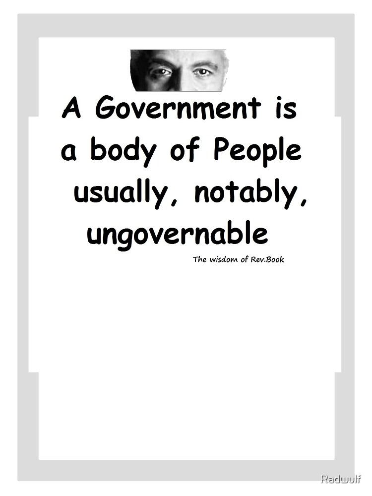 The Rev Book on Government by Radwulf