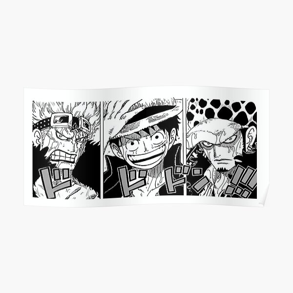 Kid Luffy Law Wano / Originale (versions colorées dispo) Poster