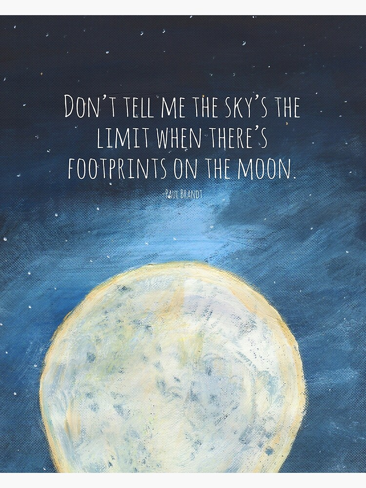 Don/'t Tell Me The Sky/'s The Limit When There/'s Footsteps On The Moon Postcard