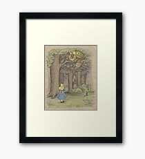 My Neighbor in Wonderland Framed Print
