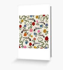 Sweet Guns and Roses Greeting Card