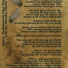 """""""Live Your Life""""  on old parchment, Chief Tecumseh von Irisangel"""