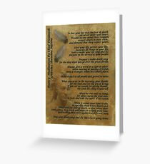 """""""Live Your Life""""  on old parchment, Chief Tecumseh Greeting Card"""