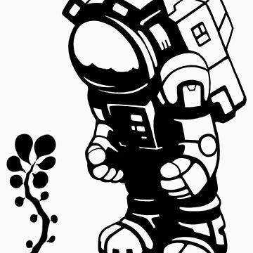Starlit Astronaut in Black - Kids version by Tikipod