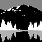 Mountain silhouette V2 by Aidan Markham