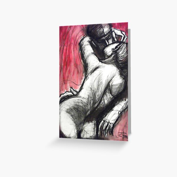 Lovers - The Kiss3 -Rodin Greeting Card