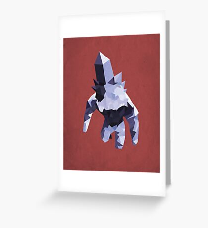 Crystal Golem Greeting Card