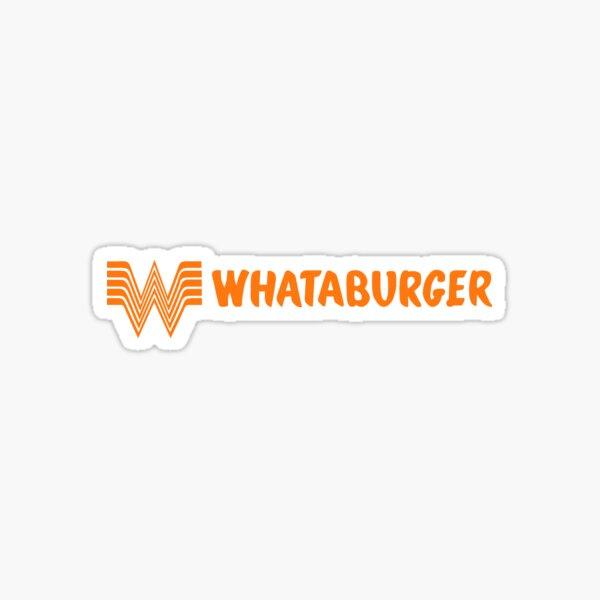 Whataburger Fast Food Logo Lanscape Orange Sticker