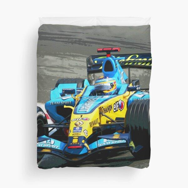 Fernando Alonso Renault 2005 oil painting Duvet Cover