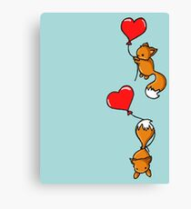 Playful Foxes Canvas Print